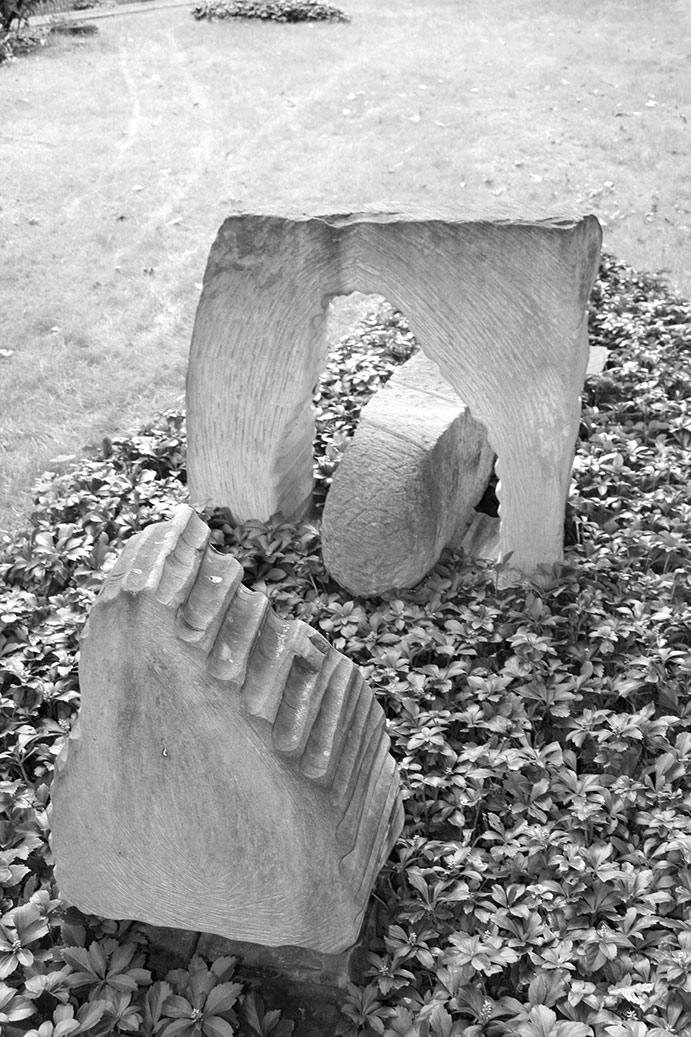 Sandsteinskulptur Grablegung