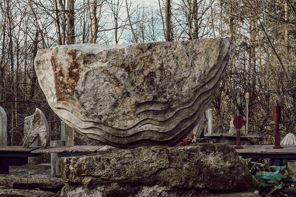 Boot aus Stein